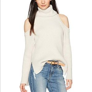 Cupcakes & Cashmere Cold Shoulder Knit Sweater